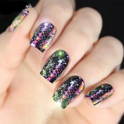 Nail Art Mirror Glitter Sequins Powder Chameleon Aurora Laser Irregular Star Foils Flake Polish UV G