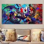 Arte colorido de la pared de la decoración de las pinturas colgantes de la lona colorida abstracta