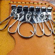 Мужчины И Женское Ретро Натуральная Кожа 6 Key Holders Кошелек 2 Слот для карты Кошелек