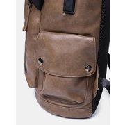 الرجال الصلبة عارضة USB شحن حقيبة الظهر رفرف متعددة الوظائف