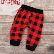 3шт Рождество девушки топы + брюки + шляпа набор для 0-24 м