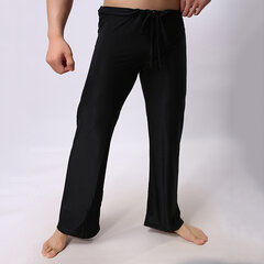 Mens Loose Casual Solid Yoga Pants & Lounge Pants With Drawstring