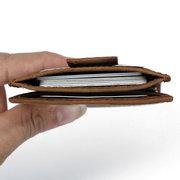Piel Genuina RFID Cartera antideslizante para tarjetas de titular de tarjetas antimagnéticas