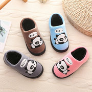 Unisex Cartoon Panda Pattern Keep Warm Home Shoes For Kids