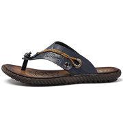 Sandalias planas suaves de PU para hombres