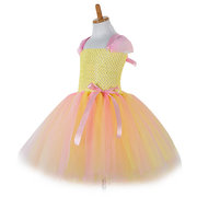 Tutu con lentejuelas Tulle Patch Girls Party Vestido para 3Y-11Y