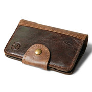 Multi-function Genuine Leather Card Holder Drivers license Bag Wallet Purse