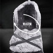 Botas de neve morna impermeável do tornozelo do couro de Microfiber dos homens do grande tamanho