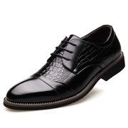 Men Microfiber Leather Non Slip Soft Business Casual Formal Shoes