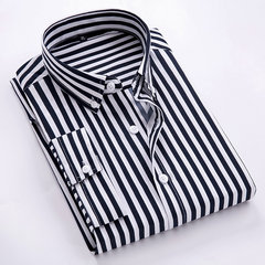 19 Season Shirt rayé à manches sept points pour hommes neufs Youth Casual Business Slim Handsome Shirt Homme