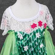 Robe de Cosplay de la jeune fille La Reine des glaces Princesse Elsa's Dress