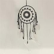 اليدوية البني البني دائرة الأبيض الكروشيه بوهو حلم الماسك ديكور المنزل