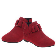 Suede Buckle Pure Color Casual Short Boots