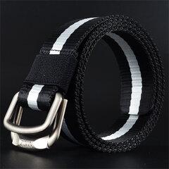 Cinturón casual transpirable de nylón con doble hebilla cinturón duradero de deporte para hombres
