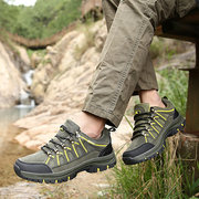Men's Outdoor Wearable Hiking Shoes Lace Up Casual Sneakers