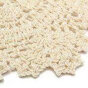 Vintage Style Cotton Placemat Yarn Hand Crochet Lace Doily
