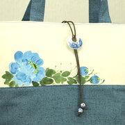 National Style Flower Шаблон Плечо из плотной ткани Сумки