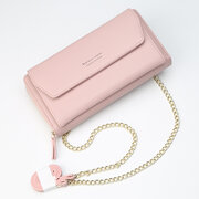 Cell Phone Pocket Portable Girls Purse Large Capacity Card Holder Female Chain Wallet