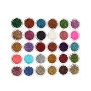 30 Farben Ein Satz Makeup Glitterpulver Lidschatten Farbstoff Auge Kosmetik Nagel Verzierung