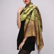 Women's Cotton Jacquard Weave Scarves Sunshade Beach Scarf Windproof Casual Soft Scarves
