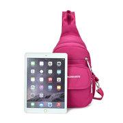 Women Pure Color Nylon Lightweight Casual Chest Bag Shoulder Bag Backpack