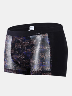 Sexy Ice Silk Mesh Breathable Transparent Boxers for Men