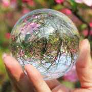 Glass Magic Crystal Healing Ball Clear Crystal Ball Home Decor Gift 110mm