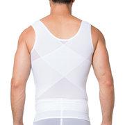 Gimnasio para hombre Fajas sin costuras Comprimir alrededor de la malla de abdomen Ropa interior de nylon suave y transpirable