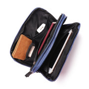 Double Travel Storage Bag Waterproof Card Passport  Digital Data Cable Earphone Organizer