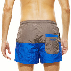 Mens Summer Spell Color Quick Drying Sport Beach Swim Board Short With Back Pocket