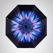LYZA Fresh Art Style Parasol plegable Protección solar Umbrella Protección UV