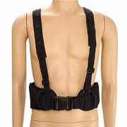 Men Women Wide Brim Tactical Waist Soft Padded Adjustable Belt With Suspender