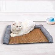 Дышащий Ротанг Лето Прохладный Кровать Любимчика Кота Собака Кошка Лето Сон Диван-Кровать