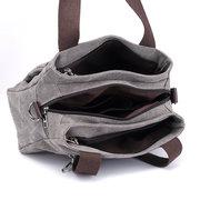 KVKY الجبهة زيبر جيوب حقائب حقائب الكتف قماش خمر حقائب التسوق في الصيف