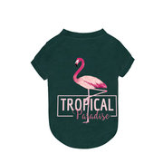 Pet Dog Cat Flamingo Green Summer T-shirt Puppy Summer Clothing