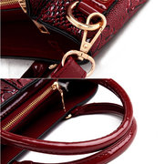 Elegant Glossy Patent Leather Handbag Shoulder Bag Crossbody Bag For Women