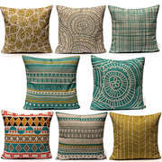 New Fresh Geometric Home Decor Linen Waist Throw Pillow Case Sofa Cushion Cover