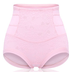 Plus Size High Waist Belly Control Cotton Crotch Lace Panties