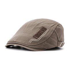Mens Womens Summer Cotton Embroidery Beret Cap Duck Hat Sunshade Casual Outdoors Peaked Forward Cap