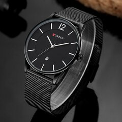 CURREN Men's Luxury Watches Brand Stainless Steel Ultra Thin Wristwatch Business Quartz Timepieces