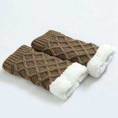Donna Diamond Grid Knit Addensare Ginocchiere Gambali caldi Set di stivali di lana Set protettiva per gambe Calze