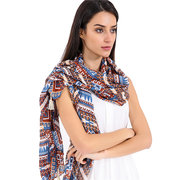 Women Cotton Scarf Striped Shawls And Scarves Patchwork Thickening Warm Soft Long Scarf