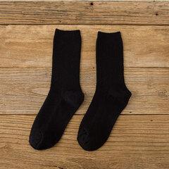 Chaussettes Automne Chaudes Confortables en Coton Socquettes Loisir Souples Respirantes à Rayures Verticales pour Femme
