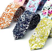 Мужские цветочные галстуки из хлопка для мужчин