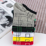 Man 5 Pairs Multiple Color Cotton Thin Elasticity Wicking Sweat Breathable Durable Boat Sock
