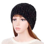 Cappellino antivento in maglia da donna casual invernale in maglia a maglia tinta unita
