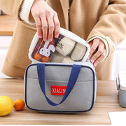 Insulated Cooler Zipper Lunch Bag Portable Lunch Box Bag Child Outdoor School