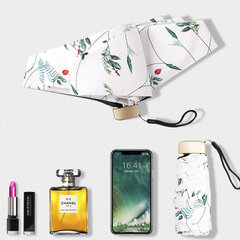 Ultralight Five Fold Umbrella Pocket Mini Sun Umbrella Folding Flower Umbrella
