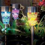Mosaic Solar Light Garden Light Household Waterproof Garden Landscaping Lawn Light