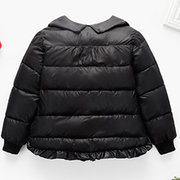 Cute Collar Girls Winter Coat Toddlers Down Jackets For 3Y-9Y